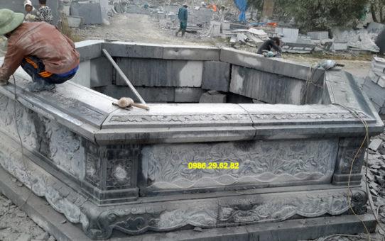 mẫu mộ đá lục giác ninh binh