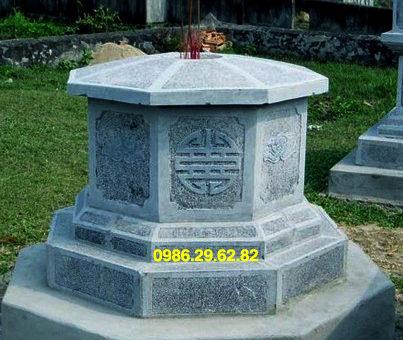 mẫu mộ đá lục giác