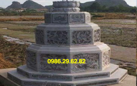 mẫu mộ đá lục giác đẹp